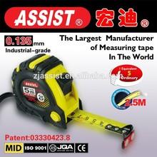 Design 3 stops measuring tape,rubber case measurement tool,steel measuring tape/funny tape measure