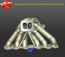 Upgrade 3mm scheduel 40 T4 Flange Turbo Manifold for 1993-1998 Toyota Supra MK4 2JZGTE 2JZ (Fits: Toyota Supra)