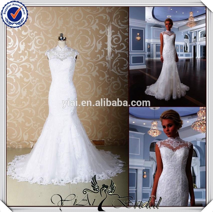 o mais novo jj3689 tradicional sereia vestido de noiva vintage padrões
