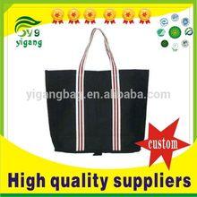 Popular stylish canvas expandable tote bag