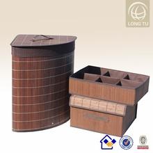 Alibaba express Recycle handmade jute laundry basket/portable folding box/decorative storage box