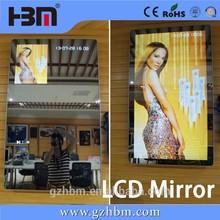 "42"" wall-mounted Motion Sensor LCD/LED Advertising Player bathroom mirror"