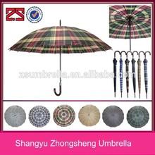 65cm straight umbrella 16K big umbrella check colors