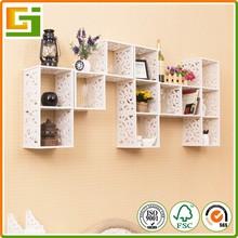Simple design waterproof plastic decoration wall shelf