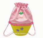 Lovely Small Cup Cake Shape Kids Children Drawstring Bag