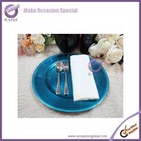 18589 cheap blue wholesale plastic charger plates