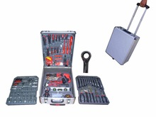 LB-342-186PCS household tool kits in aluminium case(household tool moulds; tools kit manufacturer)