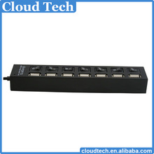 factory price usb hub 7 port usb hub micro usb hub with individual led light
