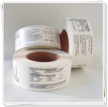 wide range of self adhesive label material for industrial barcode label