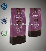 plastic vacuum sealed coffee bag