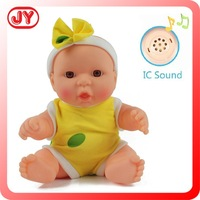 Beautiful lucky 9.5 inch custom made plastic doll for gift 12 sounds vinyl with EN71