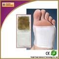 Fuqin fábrica caliente de la marca de oro relajarse de desintoxicación pie parche/cojines del pie eliminar las toxinas