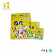 Food grade custom printed heat sealing salt plastic bag and msg packaging bag