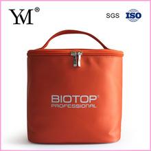 2015 lady luxury fashion plain nylon custom makeup kit