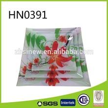 Flower Design Glass Square Hot Bending Plate