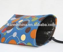 portable fabric printed customize storage bag trash bag holder for car