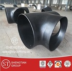 butt welded Seamless pipe fitting seamless carbon steel tee/Carbon steel butt welded pipe fitting ANSIB16.9 A234 WPB