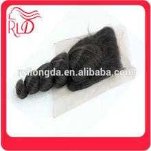 Durable professional brazilian lace closure bleached knots