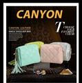 2015 mujeres mejor venta dulces color cuero bolsos
