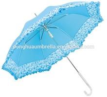 Auto open Metal Frame Curved Handle Stick Umbrella