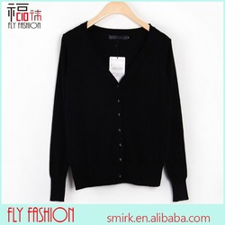 DC235-16# Black Factory Price Long Sleeve Button Cardigan Coat,Knit Sweater,Women Sweaters 2014