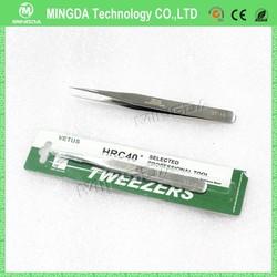 hot sales curved tip stainless tweezers/ Stainless steel tweezers ST-10