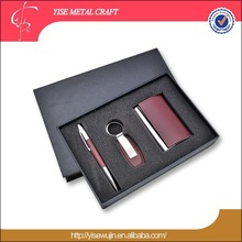 Wholesale Twist Ball Pen Key Chain Business Card Holder Gift Sets