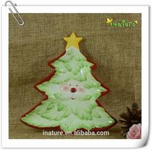 Christmas tree shaped ceramic plate