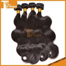 Cheap Hair Extensions Grade 6A Body Wave Natural Black Color Virgin Russian Hair