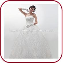 2015 beach Sexy Mermaid sleeve wedding dress fabrics PGGD-0032