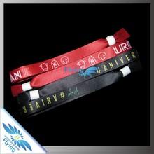 Eco-friendly cusom printed wristband for Christmas gift