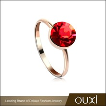 Gold plated girls rings with Austria Crystal OUXI 40056