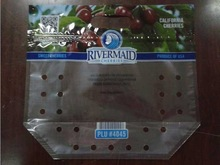 PE,PP transparent material packaging plastic bags for fruits/vegetables