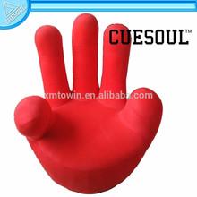CUESOUL Red Finger Flannel Finger Sofa, Living Room Lifestyle Furniture Sofa