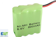 2014 hot sales NI-MH AAA 800mAh 9.6v battery pack
