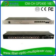 16E1 2GE 4FE SNMP ISO PDH MUX e1 fiber converter