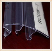 Fitting Rooms Sale Extrusion PVC Profile Label Holder for Shelves