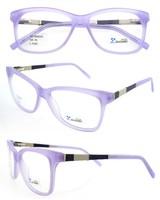 2015 hot sale acetate handmade women xray glasses purple with CE FDA