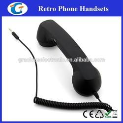 Custom logo imprint retro phone handset for smart phone