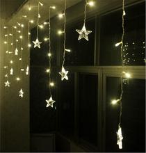 hot sale Christmas led star curtain for window