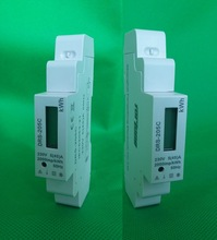 single phase din rail Modbus 12 channel ac energy meter