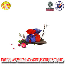 Wholesale Promotion Polyester cheap gift valentine's day drawstring bags