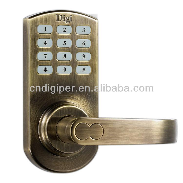digital electronic code card keyless keypad security entry door lock buy di. Black Bedroom Furniture Sets. Home Design Ideas