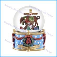Breyer Sweet Holidays Musical Horse giant snow globe