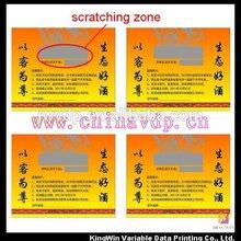 custom made scratch card in shenzhen