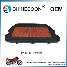 2015 Chinese high quality and low price air filter of motorcycle engine part