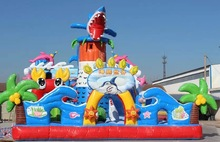 commercial kids amusement park inflatable,sea world inflatable fun city