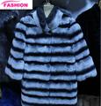 China daying rex coelho chinchila atacado casacos/mulheres jaqueta deinverno/fur coat para mulheres