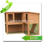 2015 Natural wood pet house/high quality luxury rabbit huntch