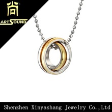 Men's stainless steel plain pendant necklace